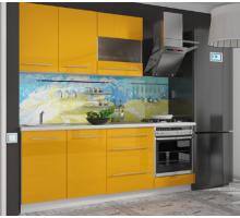 Кухонный гарнитур Лимон, цвет - желтый, стиль - современный